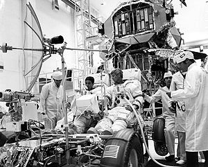 Apollo 17 Schmitt and Cernan check LRV Ap17-KSC-72P-362.jpg