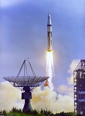 Apollo 7 - Apollo 7's liftoff