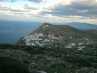 Folegandros - Image: Apopsi Choras Folegandrou