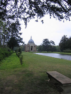 Wrest Park - Thomas Archer Pavilion at the end of the Long Canal, 2007