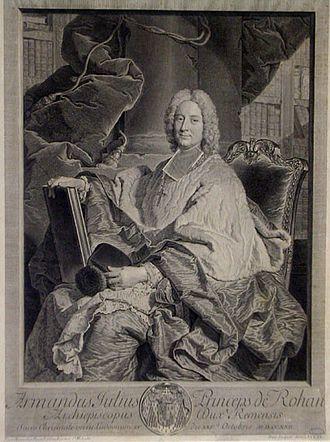 Armand Jules de Rohan-Guéméné - Image: Archevêque de Reims par Rigaud