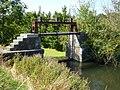 Ardres (Pas-de-Calais) La Cauchoise, petite écluse, canal des Trois Cornets.JPG