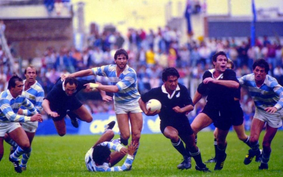 Argentina vs all blacks reid running
