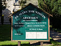 Arkesden Church of St Mary information sign, Essex, England.jpg