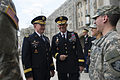 Army Gen. Martin E. Dempsey, left, chairman of the Joint Chiefs of Staff, and Superintendent of the U.S. Military Academy at West Point, Army Lt. Gen. Robert L. Caslen, Jr., talk with Cadets during his visit t 150422-D-KC128-1671.jpg