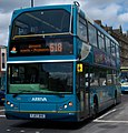 Arriva bus 7454 VDL DB250 East Lancs Myllennium Lowlander YJ57 BVE Coast and Castles in Newcastle upon Tyne pic 2.jpg