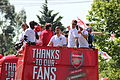 Arsenal players - FA Cup parade.jpg