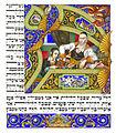 Arthur Szyk (1894-1951). The Haggadah, The Four Questions (1935), Łódź, Poland.jpg