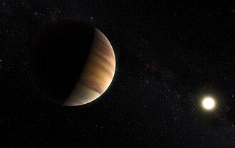 51 Pegasi - Image: Artist impression of the exoplanet 51 Pegasi b