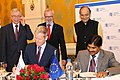 Arun Jaitley and the President, European Investment Bank (EIB), Mr. Werner Hoyer witnessing the signing of the Memorandum of Understanding (MOU), at the inauguration of the European Investment Bank (India office).jpg