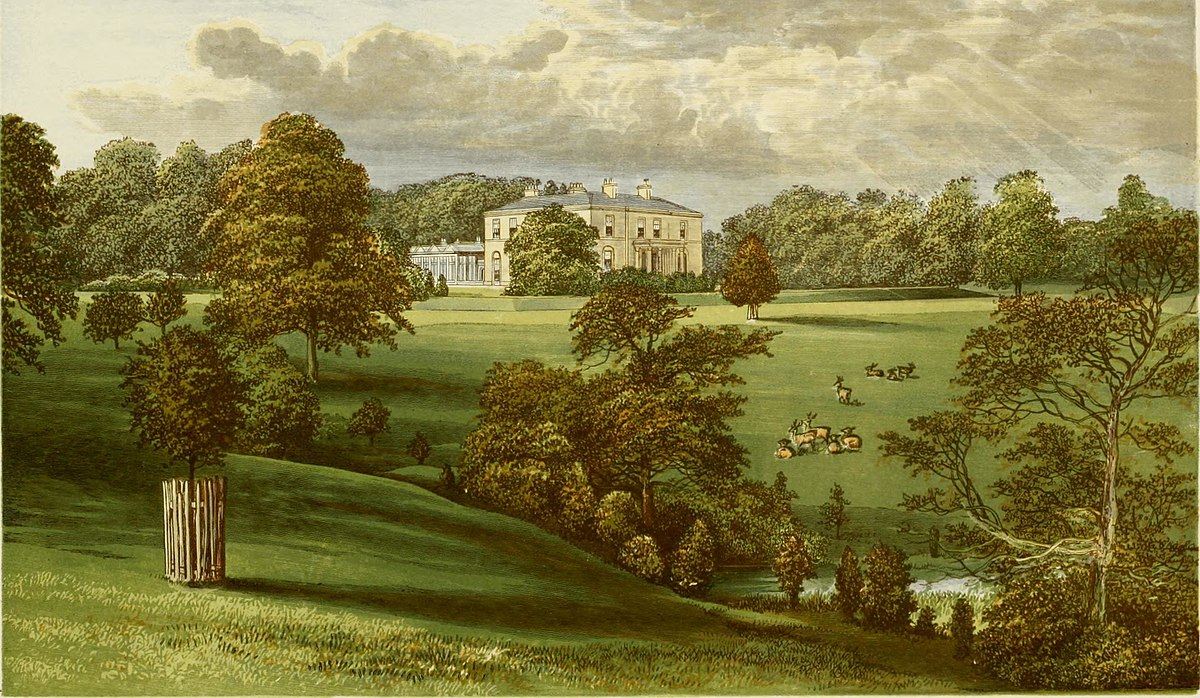 Ashcombe Park, from, A series of picturesque views of seats of the noblemen and gentlemen of Great Britain and Ireland (1840).jpg