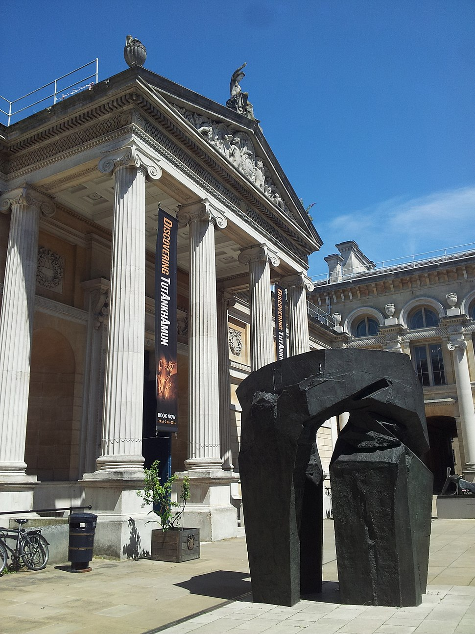 Ashmolean Museum Oxford Forecourt 2014