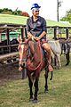 At Possa da Londra in the Brazilian Patanal (105m) - time for a morning on the horses - our illustrious CEO Javier astride his steed - note the latest in riding boots.!! - (24546551950).jpg
