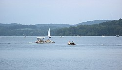 Atwood Lake from dam toward Carroll County.jpg