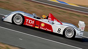 Frank Biela - Biela driving an Audi R10 in the 2006 Le Mans 24 Hours.