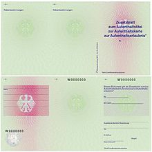 German residence permit - Wikipedia