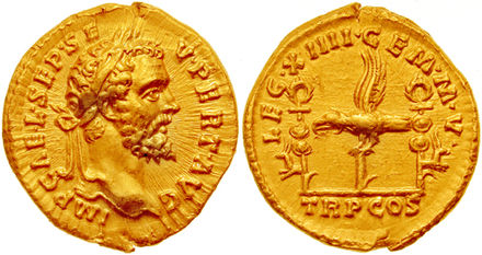 Septimius severus wikiwand aureus minted in 193 by septimius severus to celebrate xiiii gemina martia victrix the fandeluxe Choice Image