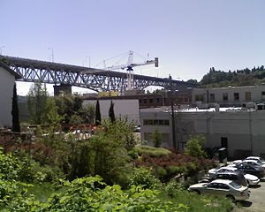 Fremont, Seattle - Image: Aurora bridge fremont seattle