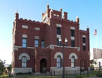 National Register of Historic Places listings in Austin County, Texas - Image: Austin county jail 2008