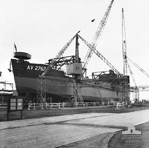 Australian Army ship Crusader (AV 2767) - Crusader under construction