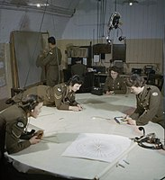 Auxiliary Territorial Service plotters at work at 428 Battery, Coastal Defence Artillery Headquarters, Dover, December 1942. TR567.jpg