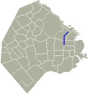 Avenida Callao - Location of Avenida Callao in Buenos Aires.