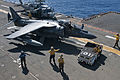 Aviation boatswain's mates taxi an AV-8B Harrier.jpg