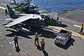 Aviation boatswain's mates taxi an AV-8B Harrier.jpg