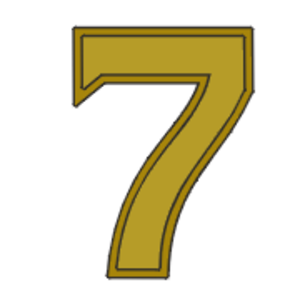 William J. Crowe - Image: Award numeral 7