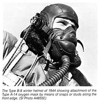 Arthur H. Bulbulian - World War II era flying helmet and oxygen mask