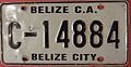 BELIZE, BELIZE CITY, c.2000 -REFLECTIVE EMBOSSED NUMBERS - Flickr - woody1778a.jpg