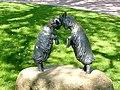 Bad Sassendorf – Bronze-Skulpturen – Kräftemessen im Kurpark - panoramio.jpg