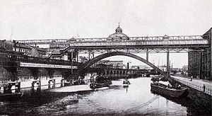 Berlin Jannowitzbrücke station - Drawing for a proposed Jannowitzbrücke monorail station, 1904