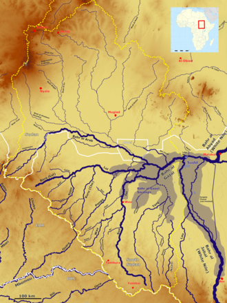 Bahr el Ghazal River - Bahr el Ghazal River basin