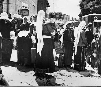 Baka, Jerusalem - Water distribution in Baka, 1948