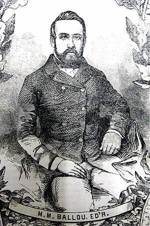 Maturin Murray Ballou - Portrait of M.M. Ballou, 1852