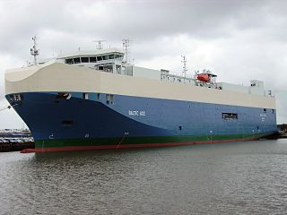 MV <i>Baltic Ace</i> Bahamian-flagged car carrier