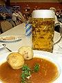 Bammental Oktoberfest - Knödel und Bier.JPG