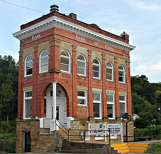 National Register of Historic Places listings in Ritchie County, West Virginia - Image: Bank of Cairo