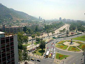 "Italian Chileans - La Plaza Baquedano of Santiago is commonly called ""Plaza Italia"""
