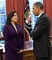 Barack Obama and Kimberly Teehee, 2012-04-27 (cropped).jpg