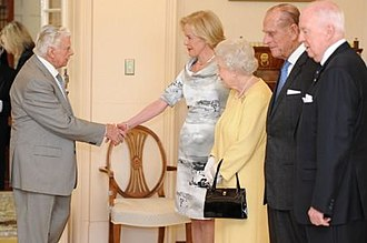 Bart Cummings - Cummings meets Quentin Bryce and The Queen at Government House, Canberra, in 2011