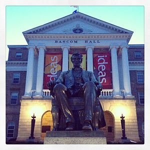 University of Wisconsin–Madison - Bascom hall at dusk