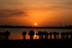 Sunset over Batticaloa Lagoon