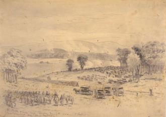 Battle of Cross Keys - The battle of Cross Keys by Edwin Forbes, June 7, 1862