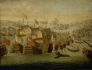 John Leake - The Battle of Málaga at which Leake commanded the vanguard