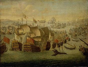 Painting of the Battle of Vélez-Málaga by Isaac Sailmaker