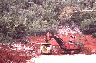 Gallium - Bauxite mine in Jamaica (1984).
