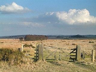 Beeley Moor Hill in the Peak District of England