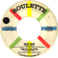 Beep Beep by The Playmates US single side-A label solid black circle.png